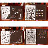 Theme Lace Template Ruler Scrawl Hollow Out Stencil DIY Photo Album Draw Tool