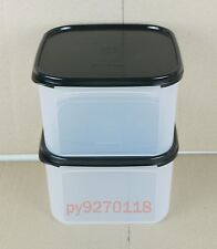 Tupperware Modular Mates Square II Set of 2 ( Black ) + Free Shipping
