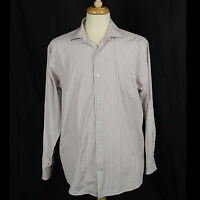 Banana Republic Men Long Sleeve 100% Cotton Stripe Shirt Sz Large 16 1/2 EUC