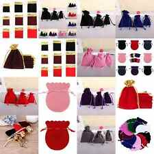 10 Velvet Bags Coin Jewelry Wedding Party Favor Gift Drawstring Packing Pouches