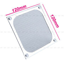 New 120mm Fan Cooling Dustproof Dust Filter Case Fit Aluminum Grill Protective