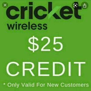 FREE $25 Cricket Wireless Referral Credit [Please Read Description] 7/30/21