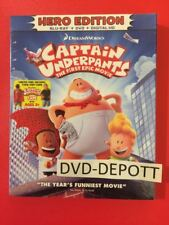 Captain Underpants: The First Epic Movie Blu-ray/DVD/HD & Slipcover & Free Cape