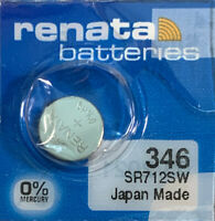 346 Renata SR712SW 1 Battery. SHIPS FREE USA. Authorized seller Exp. 03/21
