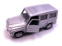 Mercedes Benz G-Klasse Modellauto in Silber Maßstab 1:34 (lizensiert)