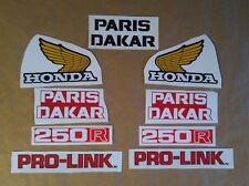 Autocollants / Stickers / Decals PARIS DAKAR Honda XL250R - XLR 250