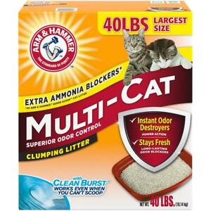 Arm & Hammer Multi-Cat Clumping Cat Litter Scented 40 lbs Pet Supplies Home New