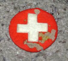 WWI or WWII German Medic Nurse White Cross Patch Authentic