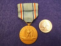 """#3 of 3, VERY NICE OLDER VTG WWII ERA? US MILITARY MEDAL & RIBBON """"GOOD CONDUCT"""""""