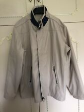 PEGASUS MENS Beige Navy SHOWERPROOF JACKET  - SIZE Large Brand New With Tags