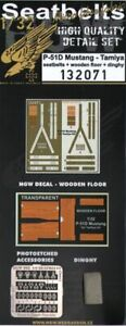 HGW 1/32 North-American P-51D Mustang Seat Belts & Details # 132071