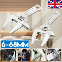 6-68mm Adjustable Universal Bathroom Wrench Spanner Wrench Nut Key Hand Tool  ^