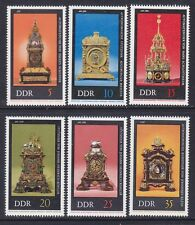 Germany DDR 1655-60 MNH 1975 Antique Clocks at Dresden Museums Full Set VF