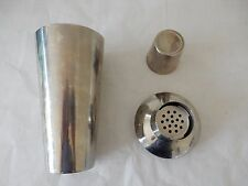 ART DECO LOOK 1950S COCKTAIL SHAKER STAINLESS STEEL   GREAT AS GIFT