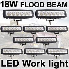 "10X 18W 6"" LED Flood Work Driving Light bar RZR Snowmobile Jeep 4WD 4X4 Honda"