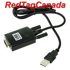 USB to RS 232 RS232 Converter Adapter GPS FTA DB9 3ft + CD Drivers- CANADA