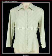 Cue Stripe Cotton Blend Corporate Professional Work Top Size 14