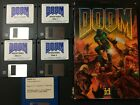 """1993 Doom Computer Game Id Software, 5 3.5"""" Disks, Manual In Box"""