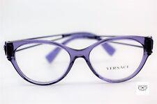 Versace VE 3254 5160 Transparent Purple New Authentic 52