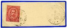 ITALIA - Regno - 1880 - Arrivo ad Almenno San Salvatore - 10 c. carminio. Umb. I
