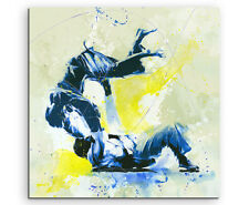 Judo III 60x60cm SPORTBILDER Paul Sinus Art Splash Art Wandbild Aquarell Art