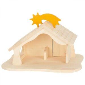 Puppenhaus, Holzhaus, Bauernhof, Stall, Krippe aus Holz