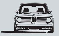BMW 2002 turbo, german style M XXL pegatina aufkleber vinilo, vinyl, 18 colours