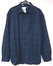 NEU Übergröße tolles Herren Karo Langarm Struktur Hemd d.blau Gr.60/62 (47/48)