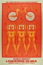 Rare Kubrick A Clockwork Orange Silkscreen Movie Poster Castro Theatre- O'Daniel