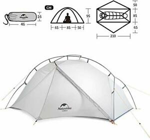 1 Person Ultralight 4 Season Backpacking Tent with Carry Bag Portable Camping