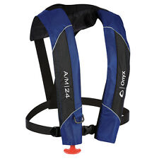 New Onyx A/M 24 Automatic/Manual Inflatable Life Jacket Lifevest (PFD) -Blue