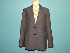 LAFAYETTE 148 NY 100% Seasonless Virgin Wool Blazer Jacket black cream sz 12 EUC