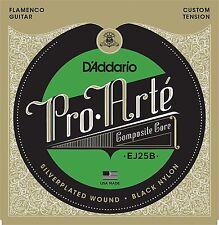 D'Addario EJ25B Pro-Arté Black Nylon Composite, Flamenco Guitar Strings
