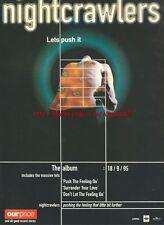 "Nightcrawlers ""Lets Push It"" Album 1995 Magazine Advert #2388"