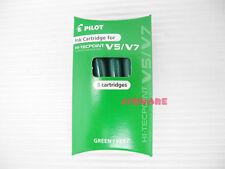 3 Refills for Pilot V5 V7 Hi-Tecpoint Ink Cartridge System Rollerball Pen, Green