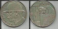 REGNO D'ITALIA VITT. EMAN. III 20 LIRE 1928 A.VI ELMETTO