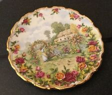Royal Albert Plate A Celebration Of The Old Country Roses Garden