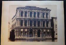 PHOTO VENISE PALAIS PESARO SUR LE GRAND CANAL 19 EME ALBUMINE N 20 A652