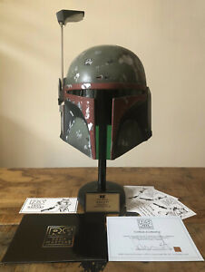 RARE RS PROP MASTERS Star Wars Return of the Jedi Boba Fett Helmet with Stand