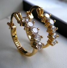 GENUINE 9CT GOLD HOOP EARRINGS GF THESE ARE STUNNING DONT MISS! 85