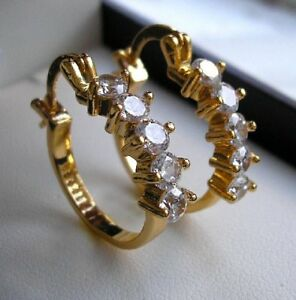 9CT GOLD HOOP EARRINGS GF THESE ARE STUNNING from 9ct gold bling 85