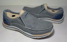 Skechers Size 11 EXPECTED AVILLO Blue Canvas Slip On Sneakers New Men's Shoes