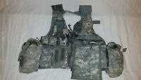 LIGHTWEIGHT MOLLE II ACU FLC ADJUSTABLE FIGHTING LOAD CARRIER W/ POUCHES JJ 1032