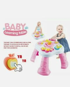Baby Laugh & Learn multifunction activity table walker,Music ,6M - 18M PINK/GIFT
