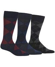 Polo Ralph Lauren Men's 3 Pack Dress Argyle Socks Burg/Navy/Black Big&Tall Size