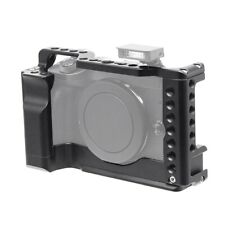 Camera Housing Cage Full Cover Case Cold Shoe Mount for Canon EOS M6 Mark II LED