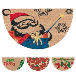 Doormat Coconut Christmass half Moon / Obstruction 40x70 Non-Slip Decorations