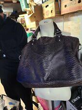 Liebeskind Berlin Brown Snakeskin pattern  Bucket Handbag