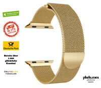 Apple Watch SERIES 5 (44mm) MILANAISE Armband GOLD | Alle Series 5 4 3 2 1 0