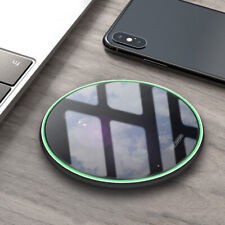 Qi Wireless Charger 15W Fast Charging Pad Mat For Samsung S20 S10 S9 Note10 9 8